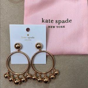 Kate Spade Rose Gold Bauble Hoop Earrings